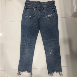 Free People light wash ripped jeans